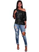 ieftine Bluze & Camisole Femei-Pentru femei Tricou Vintage - Mată Paiete