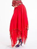 hesapli Göbek Dansı Giysileri-Göbek Dansı Alt Giyimler Kadın's Performans Şifon Dantelalar Düşük Etekler