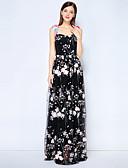 abordables Vestidos de Dama de Honor-Mujer Vintage / Chic de Calle Corte Swing Vestido - Bordado, Un Color Maxi