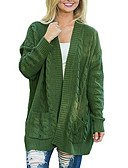 cheap Women's Sweaters-women's going out long sleeve cardigan - solid colored v neck