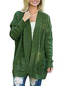 olcso Női pulóverek-Női Alkalmi Egyszínű Hosszú ujj Szokványos Kardigán, V-alakú Fekete / Szürke / Sárga XL / XXL / XXXL