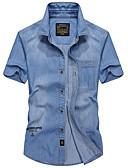 ieftine Tricou Bărbați-cămașă pentru bărbați - guler de cămașă solid colorat