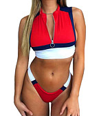 cheap Women's Swimwear & Bikinis-Women's Bikini - Color Block High Waist