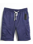זול מכנסיים ושורטים לגברים-בגדי ריקוד גברים בסיסי כותנה צ'ינו / שורטים מכנסיים - אחיד כחול בהיר / קיץ
