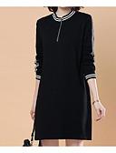 baratos Vestidos Plus Size-Mulheres Básico / Elegante Camiseta Vestido Acima do Joelho