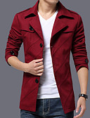cheap Men's Shirts-Men's Work Jacket - Solid Colored / Long Sleeve