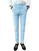tanie Męskie spodnie i szorty-Męskie Bawełna Szczupła Typu Chino Spodnie Jendolity kolor