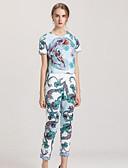 billige Damekjoler-Dame Grunnleggende / Sofistikert Bluse Bukse Geometrisk