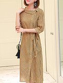 cheap Women's Dresses-Women's Cotton Slim A Line Dress Crew Neck