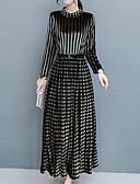 cheap Print Dresses-Women's Going out Boho A Line Dress Stand Black XL XXL XXXL