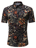 povoljno Muške košulje-Majica Muškarci - Osnovni Dnevno Geometrijski oblici Print