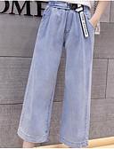 ieftine Pantaloni de Damă-Pentru femei De Bază Blugi Pantaloni - Mată Albastru Deschis