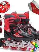 זול שמלות נשים-בנות מגלשי אינליין / מגני ברכיים / תיק לנעלי החלקה על הקרח בגדי ריקוד ילדים הבזק מתכווננת, אוורור ABEC-7 - אדום, כחול, ורוד