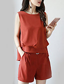 cheap Mother of the Bride Dresses-Women's Blouse - Solid Colored Pant