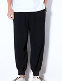 tanie Męskie spodnie i szorty-Męskie Wzornictwo chińskie Typu Chino Spodnie Solidne kolory