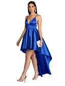 tanie Sukienki sylwestrowe-Damskie Podstawowy Szczupła Spodnie - Solidne kolory Odkryte plecy Niebieski / Impreza / Głęboki dekolt w serek / Seksowny