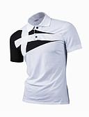 baratos Relógios Militares-Homens Polo - Trabalho Estampa Colorida Colarinho de Camisa / Manga Curta