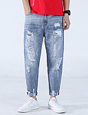 ieftine Pantaloni Bărbați si Pantaloni Scurți-Bărbați Pantaloni Chinos Pantaloni - Găurite, Mată