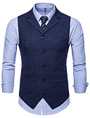 cheap Men's Blazers & Suits-Cotton / Polester / Cotton Blend Business / Daily Wear Work / Casual Round Dots / Classic / Vintage