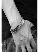 billige Eksotisk herreundertøy-Herre Tykk kjede Double Twine Kjeder & Lenkearmbånd - rustfritt Slange Vintage, Punk Armbånd Svart Til Daglig Arbeid