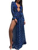 baratos Vestidos de Mulher-Mulheres Bainha Vestido Geométrica Longo