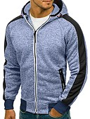 billige Hættetrøjer og sweatshirts til herrer-Herre Basale Hattetrøje / Hættetrøje Jakke - Ensfarvet