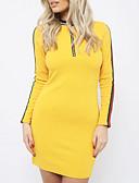 ieftine Sweater Dresses-Pentru femei Ieșire Zvelt Bodycon Rochie În V Sub Genunchi
