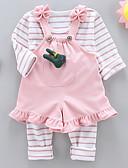 povoljno Kompletići za bebe-Dijete Djevojčice Jednobojni / Prugasti uzorak Dugih rukava Komplet odjeće