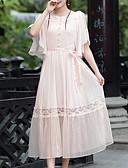 povoljno Ženske haljine-Žene Izlasci Shift Haljina Midi Visoki struk