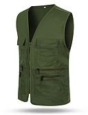 halpa Miesten takit-Miesten Ammattilainen Normaali Liivi, Yhtenäinen V kaula-aukko Hihaton Polyesteri Musta / Armeijan vihreä / Rubiini M / L / XL