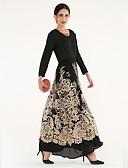 cheap Women's Dresses-BENEVOGA Women's Sophisticated Street chic Swing Jalabiya Abaya Dress - Floral Color Block Lace Mesh