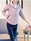 ieftine Pantaloni de Damă-Pentru femei Zilnic Activ Scurt Jachetă, Mată Capișon Manșon Lung Poliester Bej / Galben / Albastru Deschis L / XL / XXL