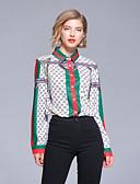 cheap Women's Tops-SHE IN SUN Women's Chinoiserie Shirt - Geometric Print