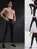 preiswerte Herren-Gürtel-Herrn Yoga-Hose - Gelb, Rot, Grün Sport Elasthan Strumpfhosen / Lange Radhose / Leggins Laufen, Fitness, Fitnessstudio Sportkleidung Rasche Trocknung, Atmungsaktiv Hochelastisch