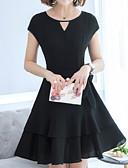 cheap Women's Dresses-Women's Party Basic A Line Dress Black L XL XXL