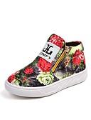 ieftine Pantaloni Bărbați si Pantaloni Scurți-Băieți / Fete Pantofi Pânză Primăvara & toamnă Confortabili / Pantofi Fata cu Flori Cizme Fermoar pentru Copii Negru / Curcubeu / Party & Seară
