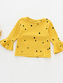 お買い得  赤ちゃん トップス-赤ちゃん 女の子 活発的 プリント 長袖 コットン Tシャツ ホワイト / 幼児