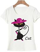 זול חולצה-חיה בסיסי טישרט - בגדי ריקוד נשים דפוס