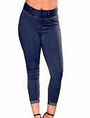ieftine Pantaloni de Damă-Pentru femei Zvelt Blugi Pantaloni - Mată Albastru piscină / Ieșire