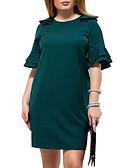 povoljno Dresses For Date-Žene Slim Korice Haljina Uski okrugli izrez Iznad koljena