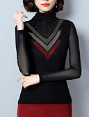 ieftine Bluze de Damă-Pentru femei Guler Pe Gât Tricou Muncă Mată