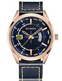 ieftine Ceasuri de Lux-Bărbați Ceas Elegant Quartz Rezistent la Apă Calendar Cronograf Piele Autentică Bandă Analog Casual Modă Negru / Alb / Albastru - Cafea Albastru / Negru Albastru / Mare Dial