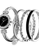 hesapli Kuvars Saatler-Kadın's Bilezik Saat Elmas izle Quartz Gümüş / Gül Gündelik Saatler Analog Bayan Günlük - Gümüş Gül Altın / Beyaz Siyah / Gül Altın