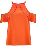 ieftine Bluză-Pentru femei Halter - Mărime Plus Size Tricou / Bluză De Bază / Șic Stradă - Mată Bufantă / Vară