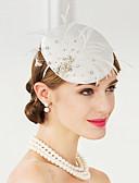 זול צעיפים לנשים-פּוֹלִיאֶסטֶר כובעים עם נוצות 1pc חתונה / מסיבה\אירוע ערב כיסוי ראש