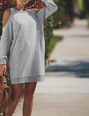 povoljno Ženske hlače-Žene Ulični šik Hlače - Jednobojni Izrezati Sive boje