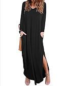 رخيصةأون فساتين طويلة-فستان نسائي متموج طويل للأرض V رقبة
