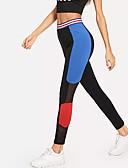 tanie Damskie spodnie-Damskie Seksowny Sportowy / Podstawowy Legging - Kolorowy blok Wysoka talia