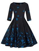 cheap Women's Dresses-Women's Plus Size Daily Basic Sheath Dress - Solid Colored Fall Yellow Fuchsia Light Blue XXL XXXL XXXXL