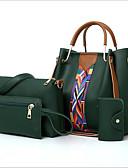 olcso Női ruhák-Női Táskák PU táska szettek 4 db erszényes készlet Cipzár Arcpír rózsaszín / Barna / Világos szürke